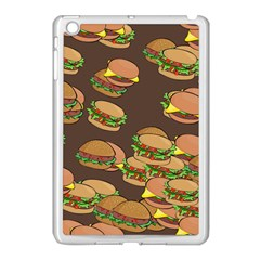 A Fun Cartoon Cheese Burger Tiling Pattern Apple iPad Mini Case (White)