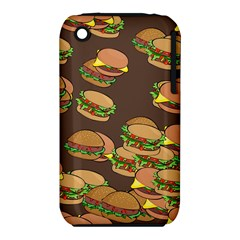 A Fun Cartoon Cheese Burger Tiling Pattern iPhone 3S/3GS