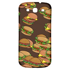 A Fun Cartoon Cheese Burger Tiling Pattern Samsung Galaxy S3 S III Classic Hardshell Back Case