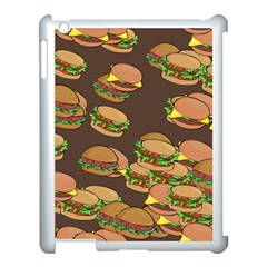 A Fun Cartoon Cheese Burger Tiling Pattern Apple iPad 3/4 Case (White)