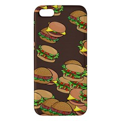 A Fun Cartoon Cheese Burger Tiling Pattern Apple iPhone 5 Premium Hardshell Case