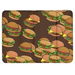A Fun Cartoon Cheese Burger Tiling Pattern Samsung Galaxy Tab 7  P1000 Flip Case