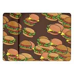 A Fun Cartoon Cheese Burger Tiling Pattern Samsung Galaxy Tab 10.1  P7500 Flip Case