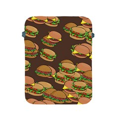 A Fun Cartoon Cheese Burger Tiling Pattern Apple iPad 2/3/4 Protective Soft Cases