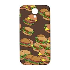 A Fun Cartoon Cheese Burger Tiling Pattern Samsung Galaxy S4 I9500/I9505  Hardshell Back Case