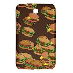 A Fun Cartoon Cheese Burger Tiling Pattern Samsung Galaxy Tab 3 (7 ) P3200 Hardshell Case