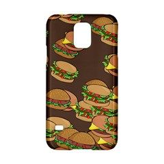 A Fun Cartoon Cheese Burger Tiling Pattern Samsung Galaxy S5 Hardshell Case