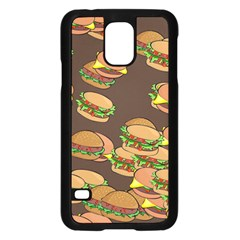 A Fun Cartoon Cheese Burger Tiling Pattern Samsung Galaxy S5 Case (Black)