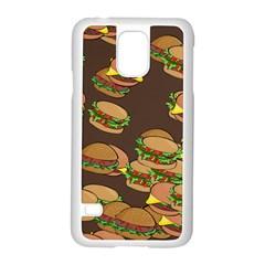 A Fun Cartoon Cheese Burger Tiling Pattern Samsung Galaxy S5 Case (White)