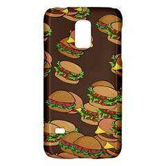 A Fun Cartoon Cheese Burger Tiling Pattern Galaxy S5 Mini
