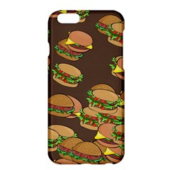 A Fun Cartoon Cheese Burger Tiling Pattern Apple iPhone 6 Plus/6S Plus Hardshell Case