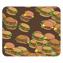 A Fun Cartoon Cheese Burger Tiling Pattern Double Sided Flano Blanket (Small)