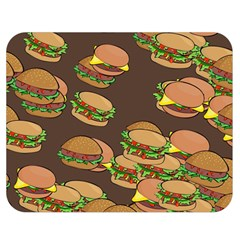A Fun Cartoon Cheese Burger Tiling Pattern Double Sided Flano Blanket (Medium)
