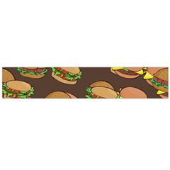 A Fun Cartoon Cheese Burger Tiling Pattern Flano Scarf (large)