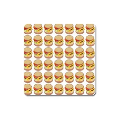 Hamburger Pattern Square Magnet