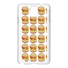 Hamburger Pattern Samsung Galaxy Note 3 N9005 Case (white)