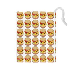 Hamburger Pattern Drawstring Pouches (Large)