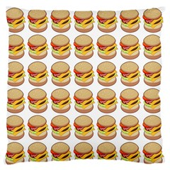 Hamburger Pattern Large Flano Cushion Case (One Side)