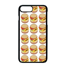 Hamburger Pattern Apple Iphone 7 Plus Seamless Case (black)