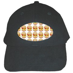 Hamburger Pattern Black Cap