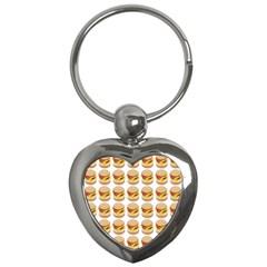 Hamburger Pattern Key Chains (heart)