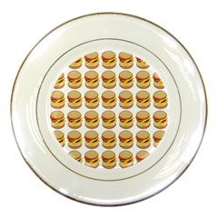 Hamburger Pattern Porcelain Plates