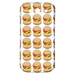 Hamburger Pattern Samsung Galaxy S3 S III Classic Hardshell Back Case