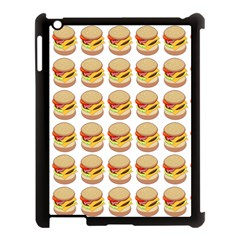 Hamburger Pattern Apple iPad 3/4 Case (Black)