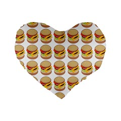 Hamburger Pattern Standard 16  Premium Heart Shape Cushions