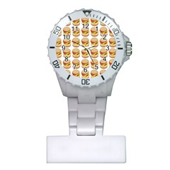 Hamburger Pattern Plastic Nurses Watch
