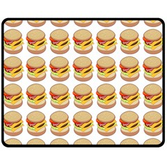 Hamburger Pattern Double Sided Fleece Blanket (medium)