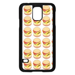 Hamburger Pattern Samsung Galaxy S5 Case (Black)