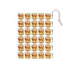 Hamburger Pattern Drawstring Pouches (Medium)