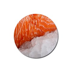 Abstract Angel Bass Beach Chef Rubber Round Coaster (4 Pack)