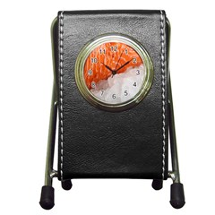 Abstract Angel Bass Beach Chef Pen Holder Desk Clocks