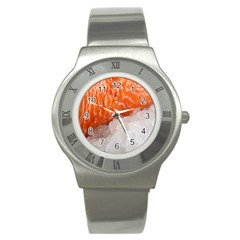 Abstract Angel Bass Beach Chef Stainless Steel Watch