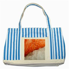 Abstract Angel Bass Beach Chef Striped Blue Tote Bag