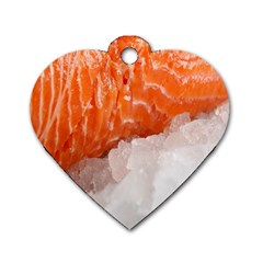 Abstract Angel Bass Beach Chef Dog Tag Heart (two Sides)