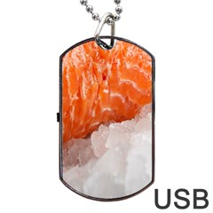 Abstract Angel Bass Beach Chef Dog Tag USB Flash (One Side)