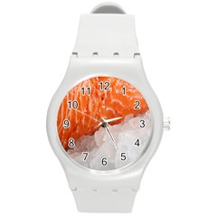 Abstract Angel Bass Beach Chef Round Plastic Sport Watch (M)