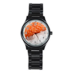 Abstract Angel Bass Beach Chef Stainless Steel Round Watch