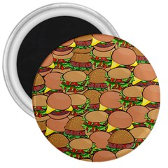 Burger Double Border 3  Magnets