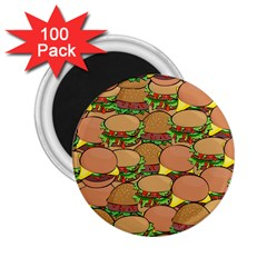 Burger Double Border 2 25  Magnets (100 Pack)