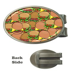 Burger Double Border Money Clips (oval)