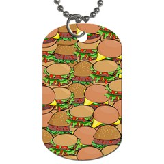 Burger Double Border Dog Tag (Two Sides)