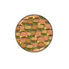 Burger Double Border Hat Clip Ball Marker (10 pack)