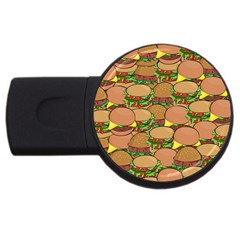 Burger Double Border USB Flash Drive Round (4 GB)