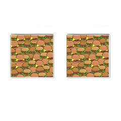 Burger Double Border Cufflinks (Square)