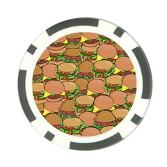Burger Double Border Poker Chip Card Guard