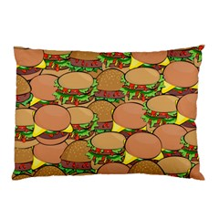 Burger Double Border Pillow Case